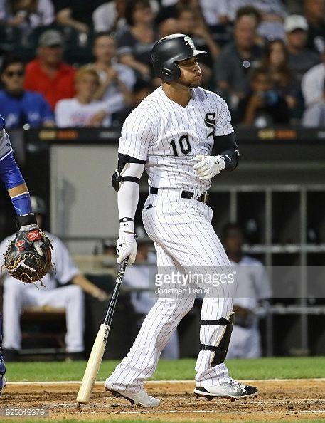News Photo : Yoan Moncada of the Chicago White Sox reacts...