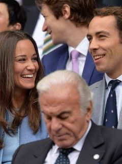 Pippa Middleton and James Middleton at Wimbledon