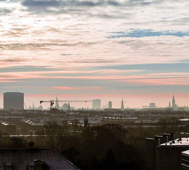Copenhagen skyline.   #skyline #Copenhagen #københavn #mitkbh #bispebjerg #Winter #vinter #clouds #city #by #bygninger #tower #nordvest #denmark #visitcopenhagen