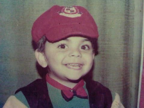 """Virat Kohli"" Indian Cricket Player when he his in childwood Photo."