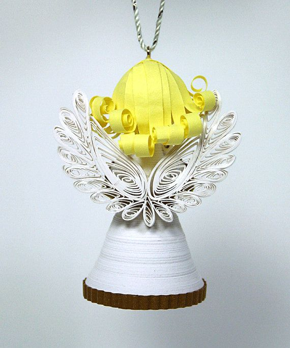 A Darling Paper Christmas Angel Ornament by AGiftwithinaGift