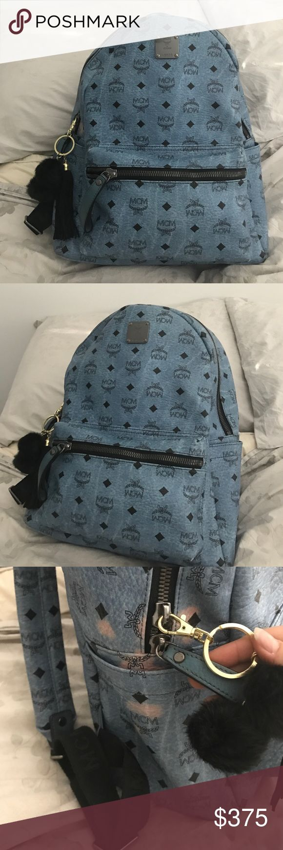 •PRICE FIRM• 100% AUTH LARGE $800 RETAIL  BACKPACK •PRICE FIRM• AUTH LIMITED EDITON LARGE $850 RETAIL  BACKPACK 🎒 UNISEX. LOWEST PRICE OUT THERE FOR A GUARANTEED AUTH MCM PURCHASED FROM GOODMAN IN NEW YORK. INSIDE IS FLAWLESS LIKE NEW, CORNERS HAVE NO PIPING SHOWING BUT LIGHT WEAR, THE MAJOR FLAWS ARE AS SHOWN IN PICTURE ARE HIGHLY REFLECTED IN PRICE BUT THE FREE CHARM THAT IS INCLUDED WITH PURCHASE COVERS THEM WHEN WEARING SO YOU CANT SEE. ZIPPER PULL REPLACED WITH PUFF CHARM I DONT HAVE…