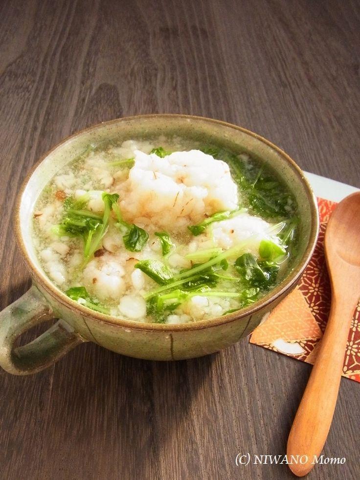 押し麦入り海老団子のとろみスープ by 庭乃桃 | レシピサイト「Nadia | ナディア」プロの料理を無料で検索