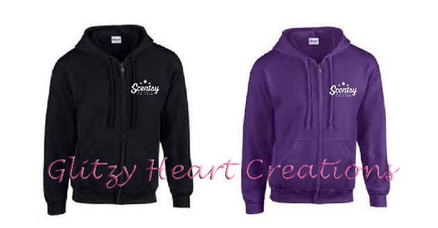 Scentsy Full Zip hoodie,Authorized Scentsy Vendor,Scentsy, Unisex full zip hoody, Scentsy clothing, Scentsy logo, Trio Star logo on Front by GlitzyHeartCreations on Etsy