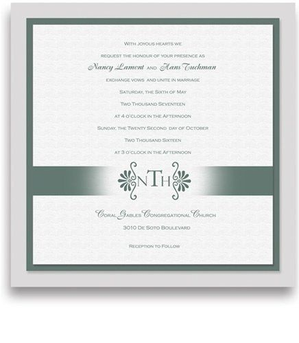 160 Square Wedding Invitations - Monogram Pewter Motif by WeddingPaperMasters.com. $419.20. Now you can have it all! We have created, at incredible prices & outstanding quality, more than 300 gorgeous collections consisting of over 6000 beautiful pieces that are perfectly coordinated together to capture your vision without compromise. No more mixing and matching or having to compromise your look. We can provide you with one piece or an entire collection in a one stop shopp...