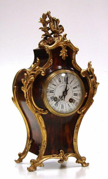 Tortoiseshell and Ormolu mounted Mantel Clock (1880 to 1890France)