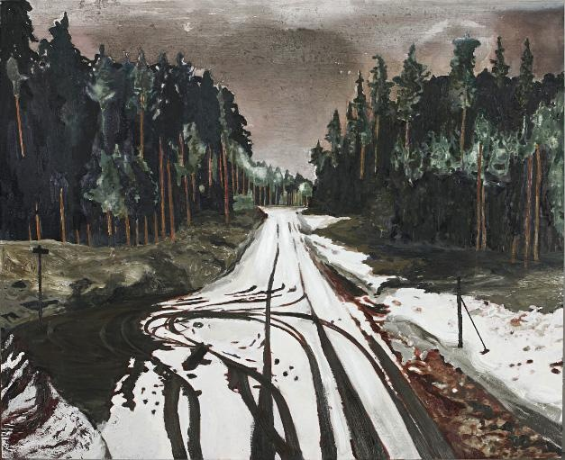 Karin Mamma Andersson  DEAD END, 2010  Acrylic and oil on linen, 122x150 cm