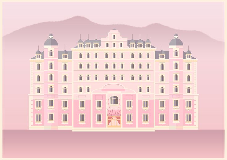 My quick geometrical interpretation of some of my favourite characters in Wes Anderson's 'The Grand Budapest Hotel'. Illustrated by George Townley