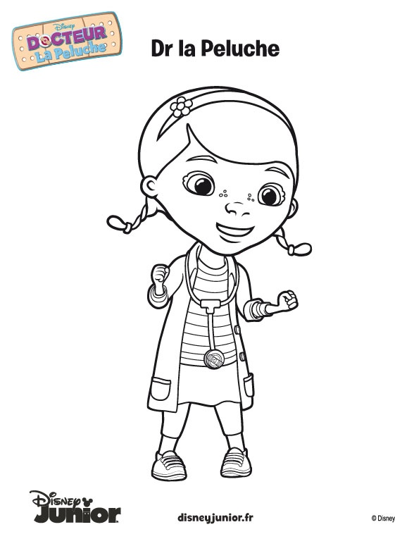 Coloriage de DOCTEUR LA PELUCHE - © Disney: Coloriag Docteur La Peluch, Coloriag Of, Doc Mcstuffins, Mcstuffins Colors, Coloriag Child, Disney Colour, De Docteur, Coloriag For, Colors Pages