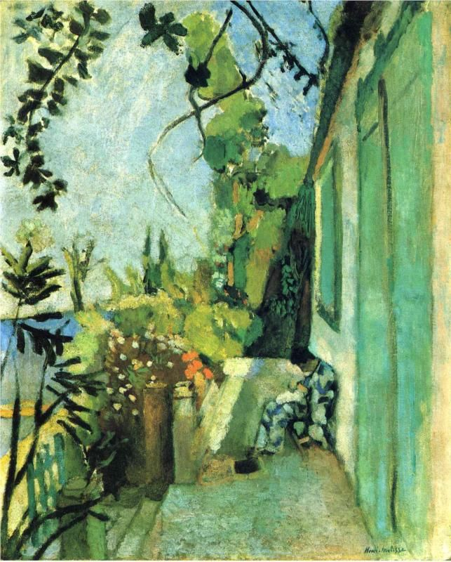 The Terrace, St. Tropez, -    Henri Matisse - 1904 ..................#GT