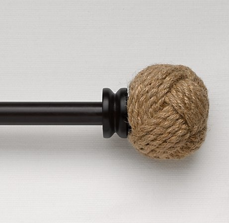 Good Rope Curtain Rod For A Rustic Feel