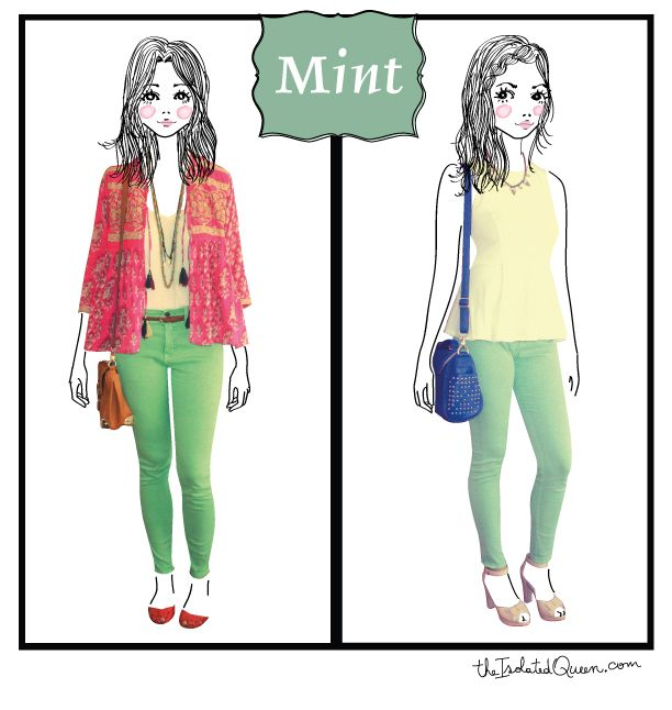 On MINT! details of these outfits at http://theisolatedqueen.com/?p=221
