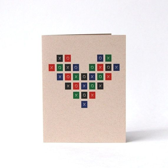 I Love You card Giant X O X O Heart Hugs and Kisses by cooljane, $5.00