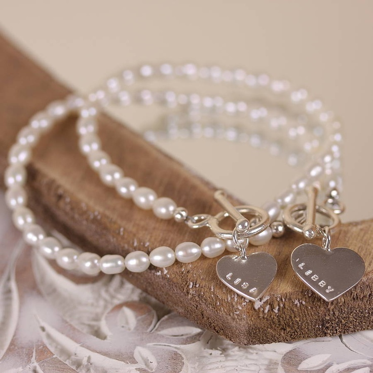 Personalized Bridesmaid Bracelet, i wanna do something like this for my bridesmaids someday