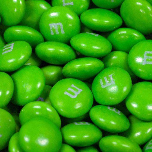 M&Ms Candies Light Green 10lb case