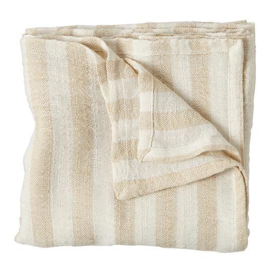 Bamboo Blanket (Khaki Stripe)    The Land of Nod