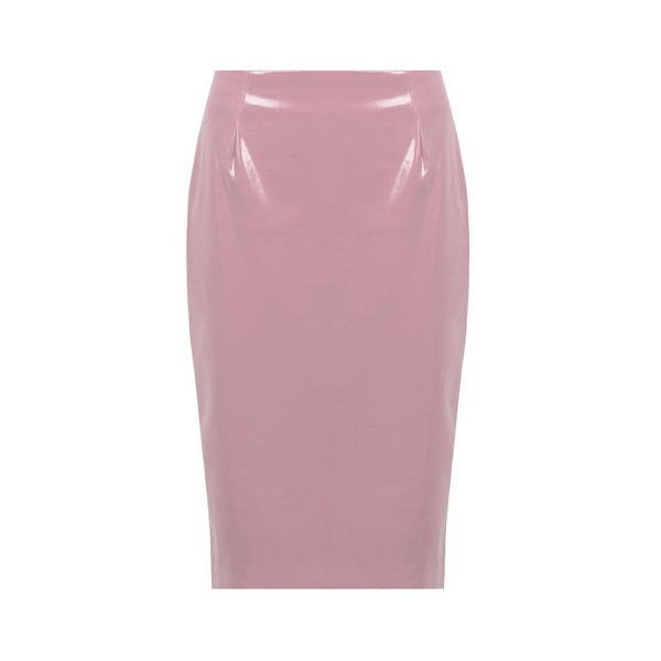 Material Girl Pencil Skirt 2.0 ($99) ❤ liked on Polyvore featuring skirts, purple pencil skirt, material girl, knee length pencil skirt, material girl skirt and pencil skirt