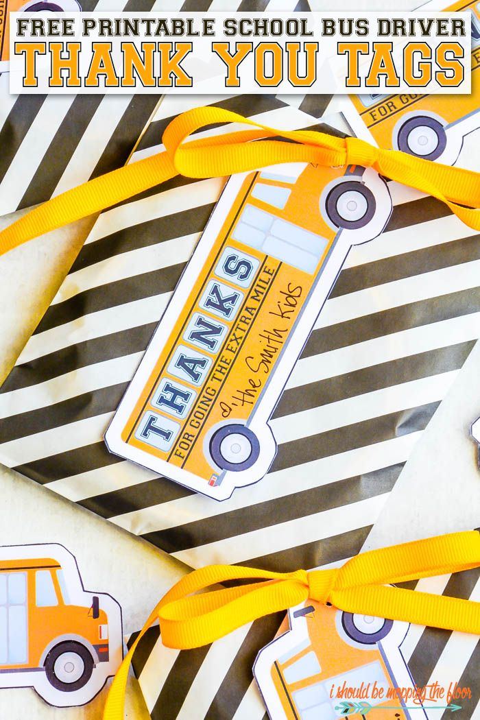 Free Printable School Bus Driver Thank You Tags Teacher Appreciation Printables Bus Driver Gifts School Teacher Gifts