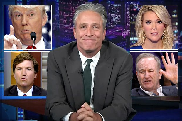"""Jon Stewart's real threat to Fox News: You don't get to define patriotism! 