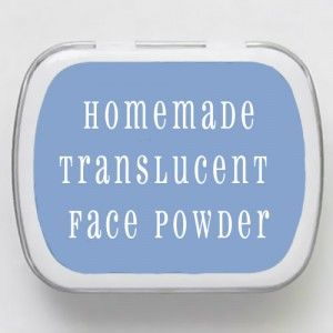 Make your own Translucent Face Powder!good idea since bare minerals mineral veil
