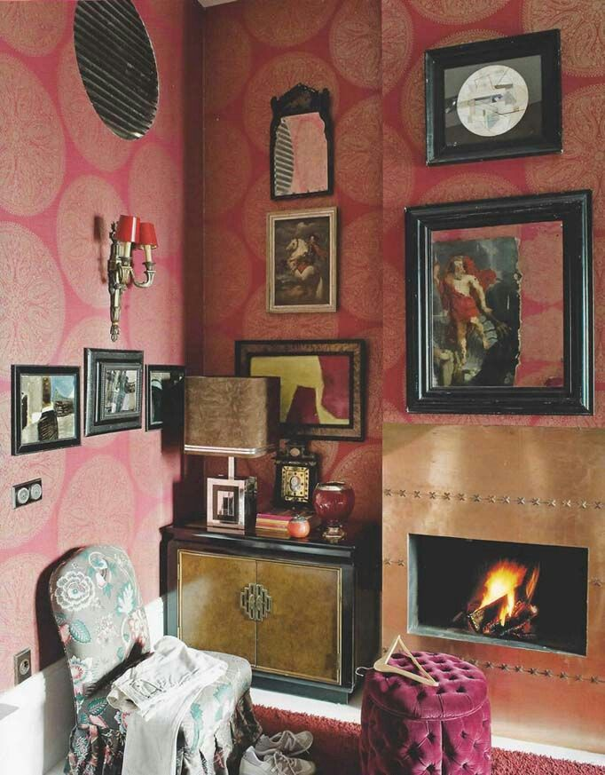 The red room.  #furniture, #interiors, #Home