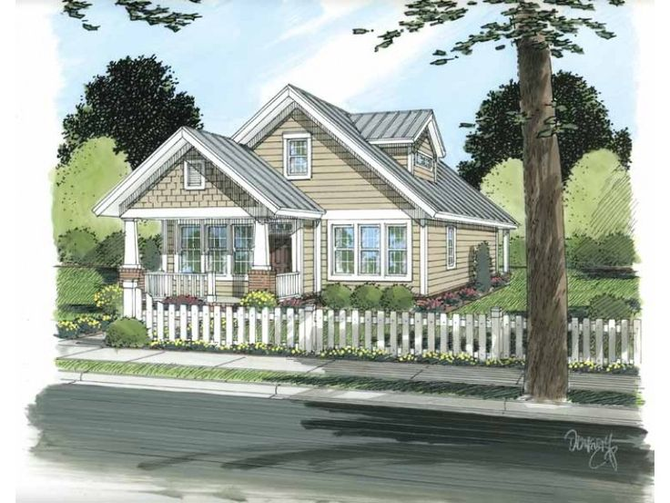 Craftsman House Plan With 1714 Sq Ft Master Down 2