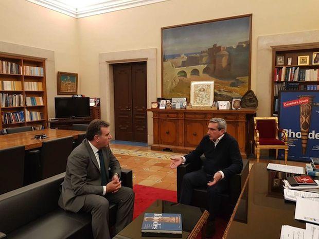 Συνεργασία του Περιφερειάρχη Νοτίου Αιγαίου, Γιώργου Χατζημάρκου, με τον Τομεάρχη Τουρισμού της ΝΔ, Μάνο Κόνσολα , για την στήριξη του τουρισμού του Νοτίου Αιγαίου