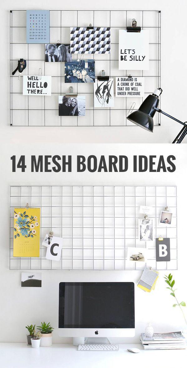 14 mesh board ideas / Memo board ideas / Grid mood board ideas