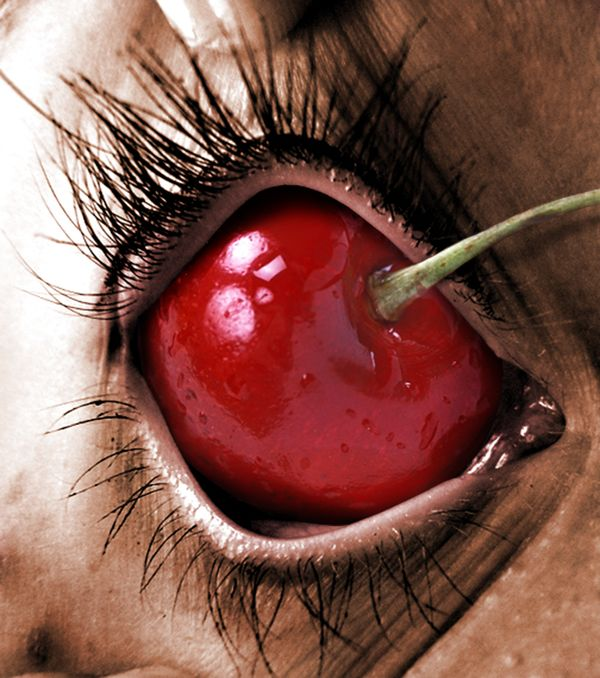 This made me think about what if there weren't cherry trees, but just breeds of people who grew them out of their eye sockets. Would you still eat cherries?