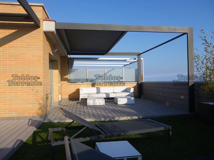 17 mejores im genes sobre decoracion terrazas en pinterest - Aluminio para pergolas ...