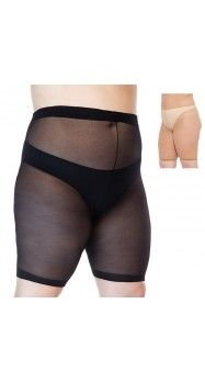 Sheer Anti Chafing Shorts (2X to 6X) plus size semi sheer tights 22 24 26 28 30 32 34