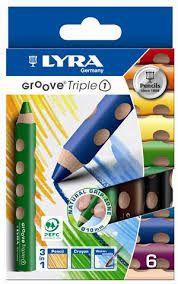 Con LYRA Groove TripleOne avrai matita acquerellabile, matita colorata e pastello a cera, tutto in uno! Grazie ai colori brillanti e uniformi, facili da miscelare e idrosolubili, potrai esprimere la tua creatività al 100%.