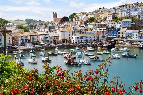 English Riviera, UK: View of Brixham Harbour