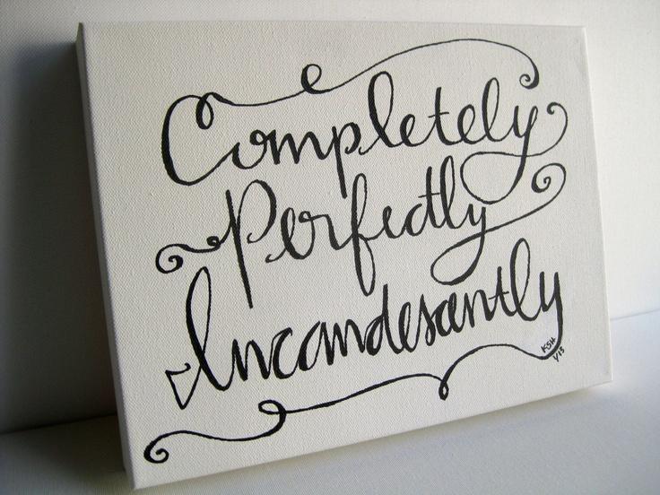 Quote on canvas - home decor