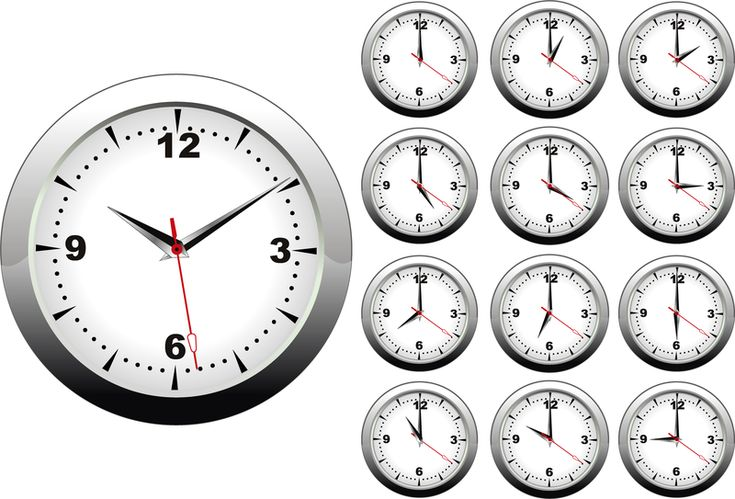 Clock On Different Times Set Ad Ad Sponsored Set Times Clock Clock Clock Icon Vector