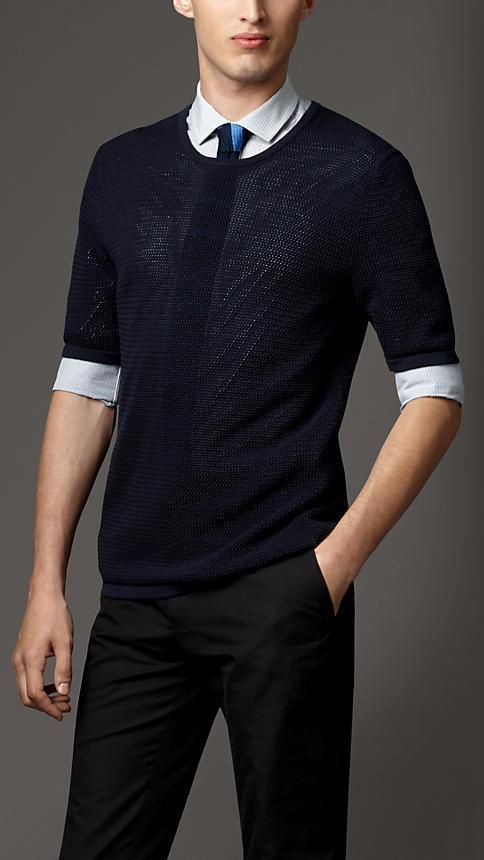 Burberry London Silk Mesh T-Shirt