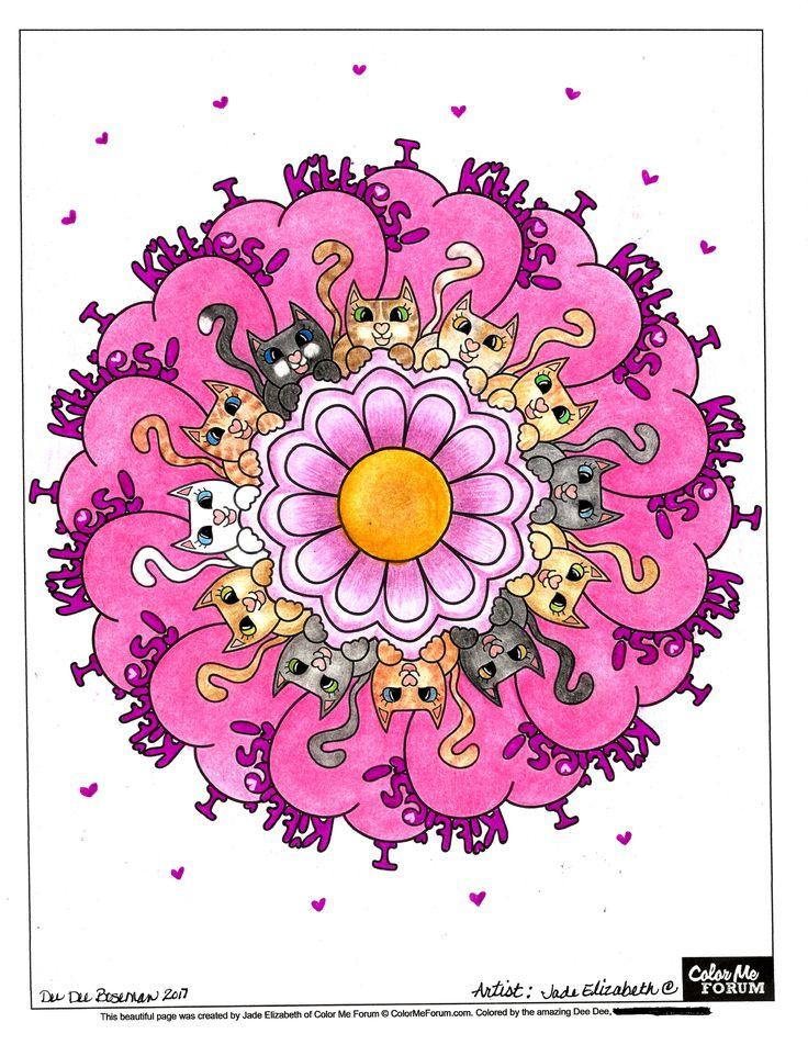 Kitties Mandala - Strut Your Stuff - Color Me Forum