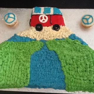 World and van cake