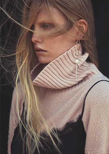Allure #AFF #AFFstyle #fashion #allure #beauty #winter #blonde #model #polarneck
