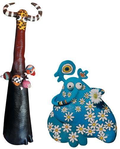 206 best images about papier mache art on pinterest. Black Bedroom Furniture Sets. Home Design Ideas