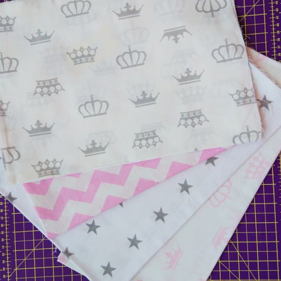 Craft Supplies & Tools  Fabric & Notions  Fabric  Cotton fabric  Baby girl fabric  sewing fabric  crowns print  stars fabric chevron fabrics  natural fabrics  fabrics cut  fabric by the yard  nursery fabrics  sewing tools  pink and grey fabric baby fabric
