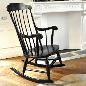 Rocking-chair bois « Outrenoir »