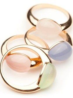 Pastel Stone Rings