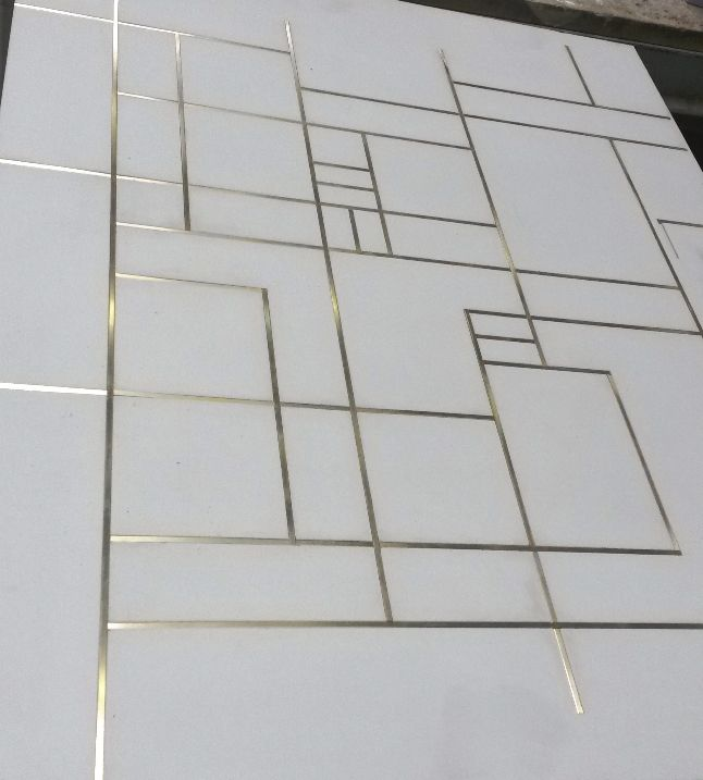 Floor Tiles With Brass Inlay More Concrete Tile Floor Concrete Tiles