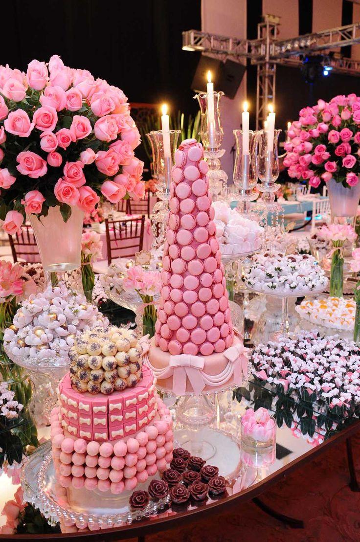 Mesa de dulces, fiesta, niña, xv