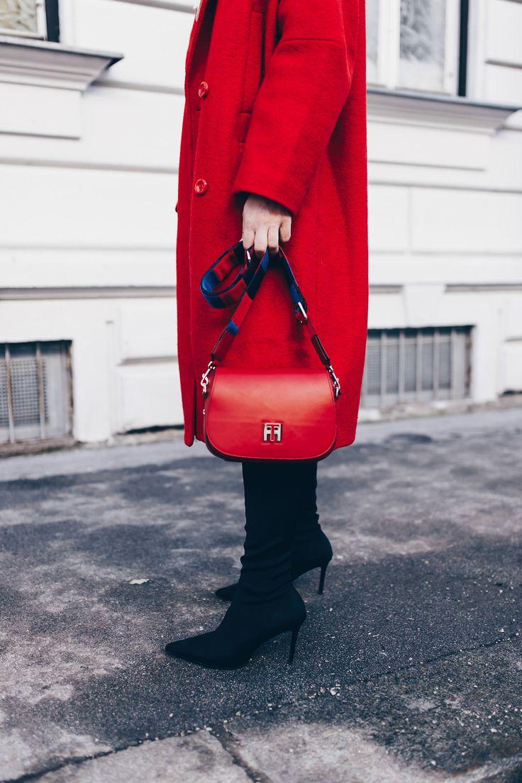 Rote Tasche Kombinieren
