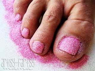 DIY Glitter Toes!  I love getting these done, but now I know how to do them myself :)