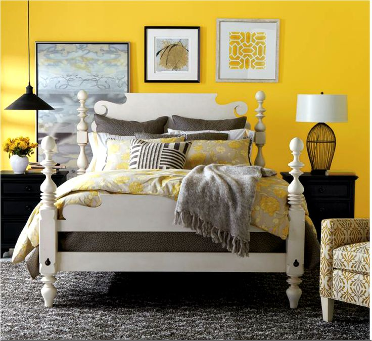 Black and yellow bedroom featuring Ethan Allen s Quincy bed in the  cotton   finish 43 best Bedding  Ethan Allen images on Pinterest   Ethan allen  . Ethan Allen Bedrooms. Home Design Ideas