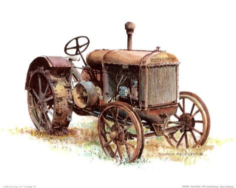 Old tractor prints