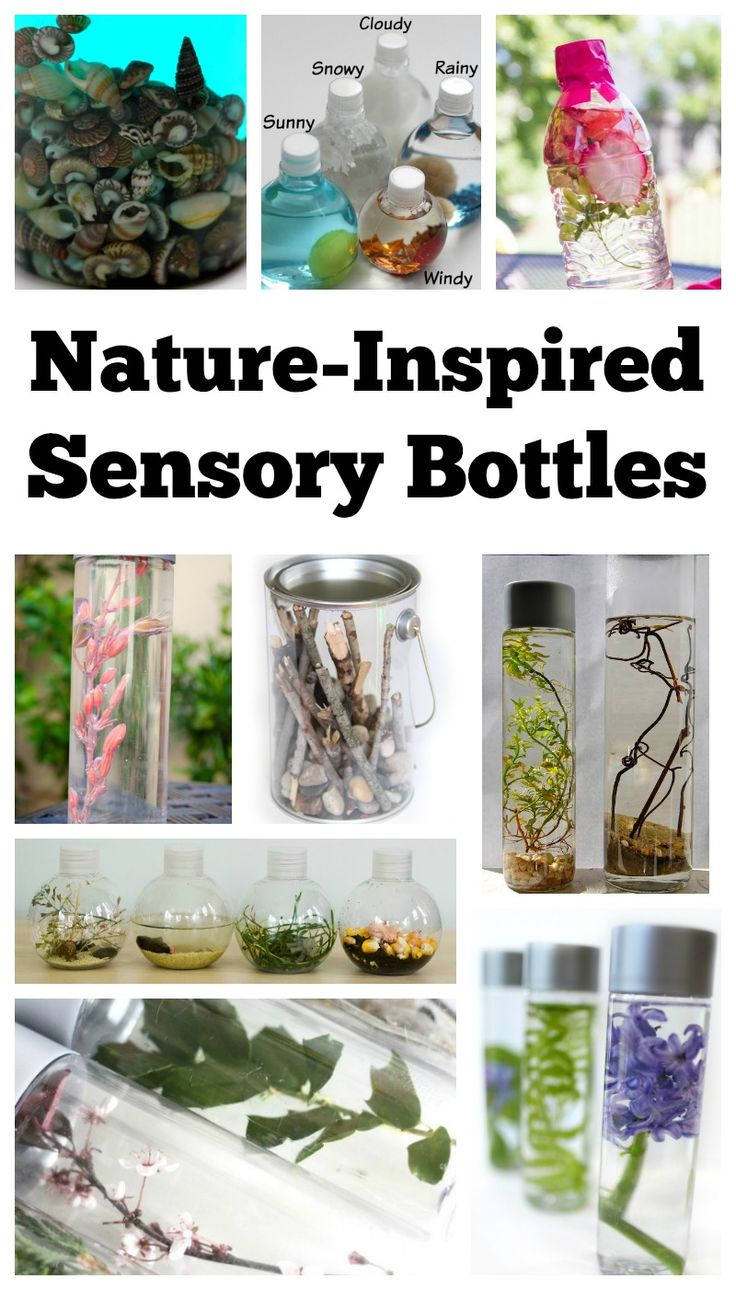 Nature Inspired Sensory Bottles.                            Gloucestershire Resource Centre http://www.grcltd.org/scrapstore/